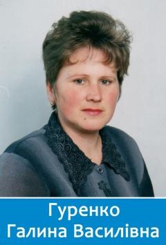 Вчителька початкових класів Гуренко Галина Василівна