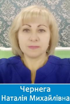 Вчителька хімії Чернега Наталія Михайлівна